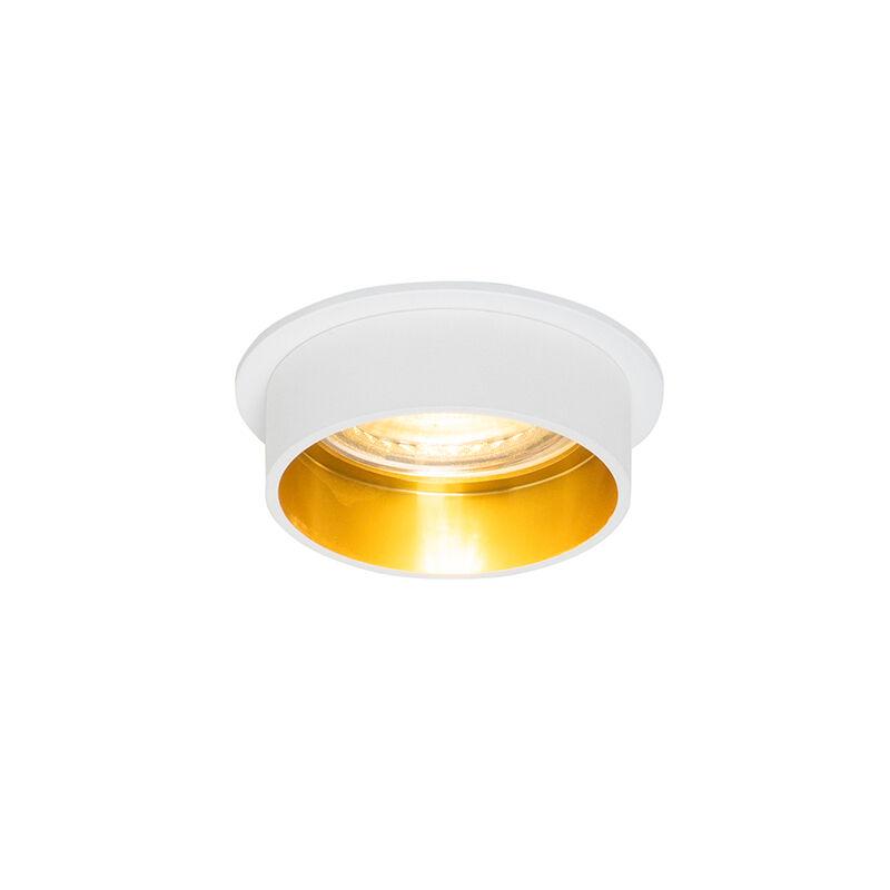 QAZQA Spot encastrable moderne blanc avec or - Insta