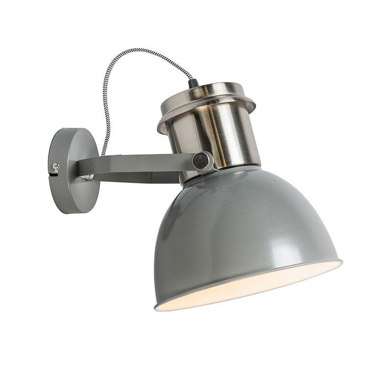 QAZQA Applique industrielle gris - Industriel