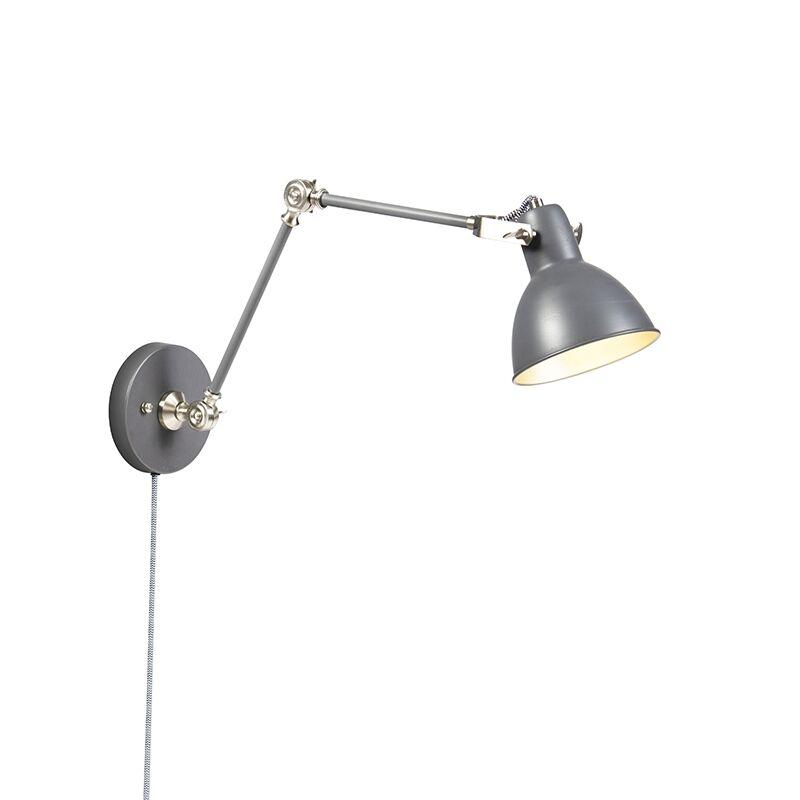QAZQA Applique industrielle gris réglable - Dazzle