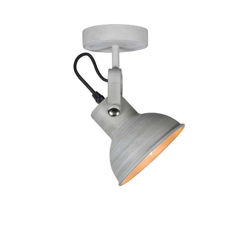 QAZQA Applique et plafonnier industriel gris inclinable - Guida