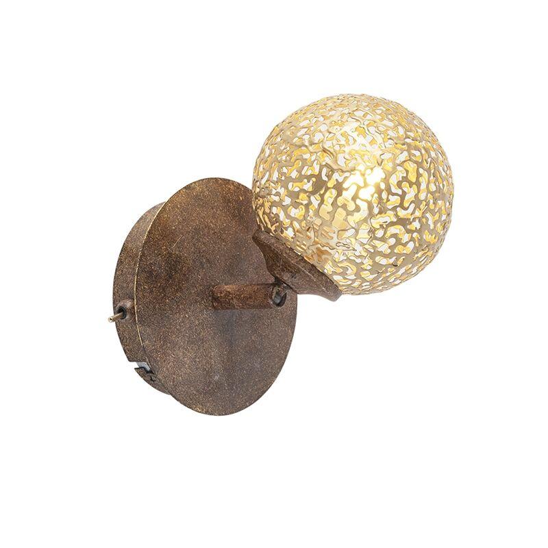 Paul Neuhaus Applique brun rouille réglable avec interrupteur - Crète
