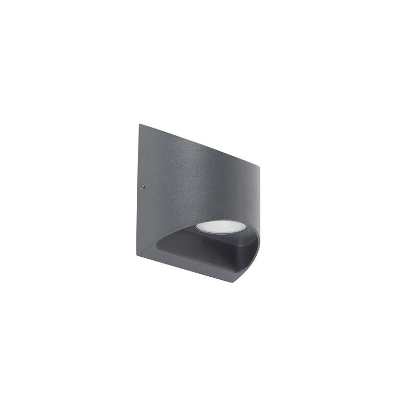 QAZQA Applique d'extérieur moderne gris foncé avec LED IP54 - Mal