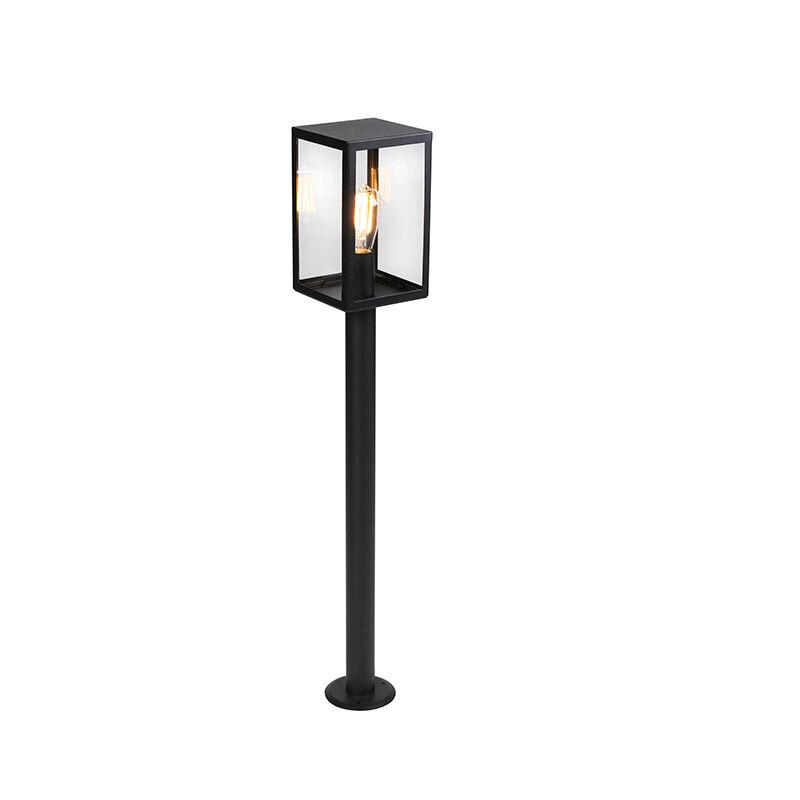 QAZQA Lampe d'extérieur moderne noire avec verre 100,5 cm - Rotterdam