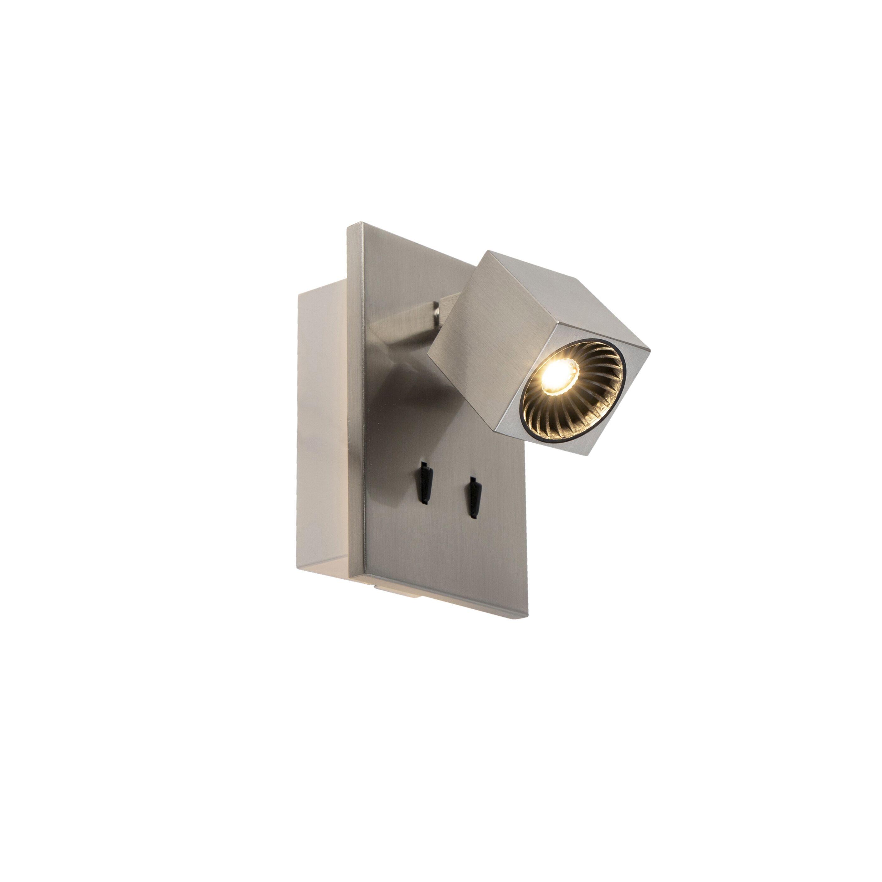 Trio Leuchten Applique moderne inclinable acier LED incl.- Cupra