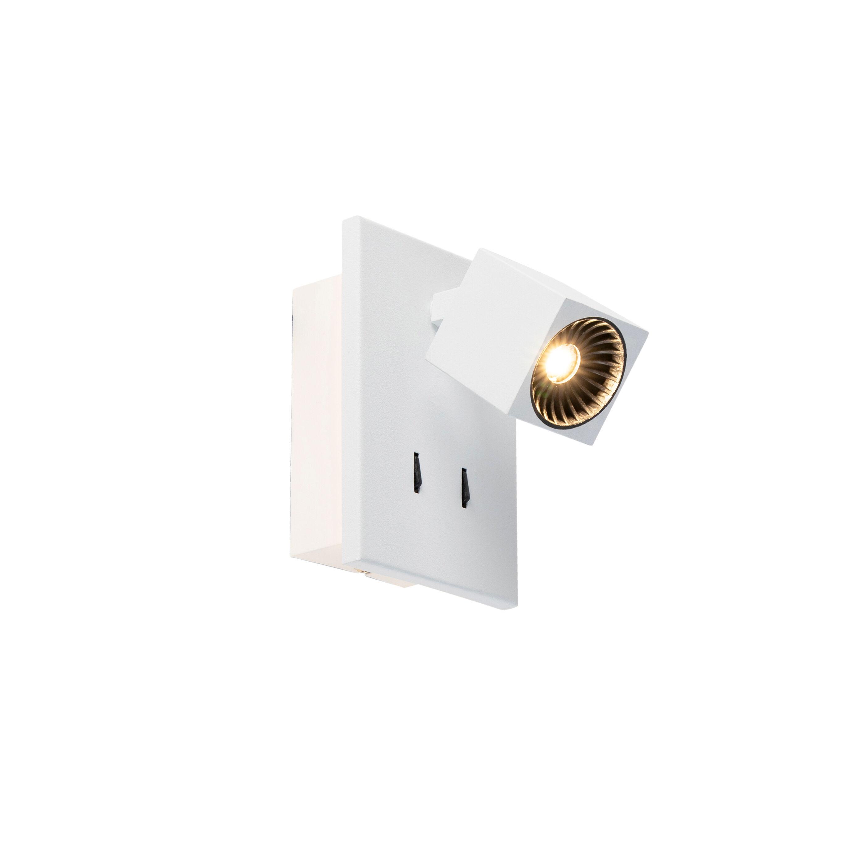 Trio Leuchten Applique moderne blanc avec LED - Cupra