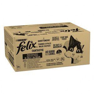 Felix Purina Felix Le Ghiottonerie Mix Selection en gelée pour chat 80x85g Par boîte (80 pièces) - Publicité
