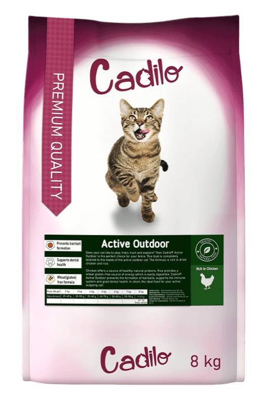 Cadilo Active Outdoor pour chat 8 kg + 2 kg gratuits