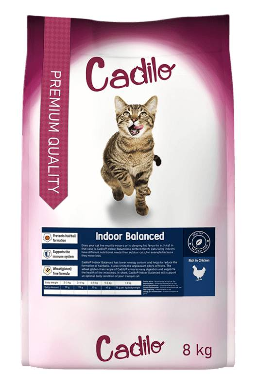 Cadilo Indoor Balanced pour chat 8 kg
