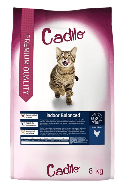Cadilo Indoor Balanced pour chat 400 gram + 400 gram gratuits