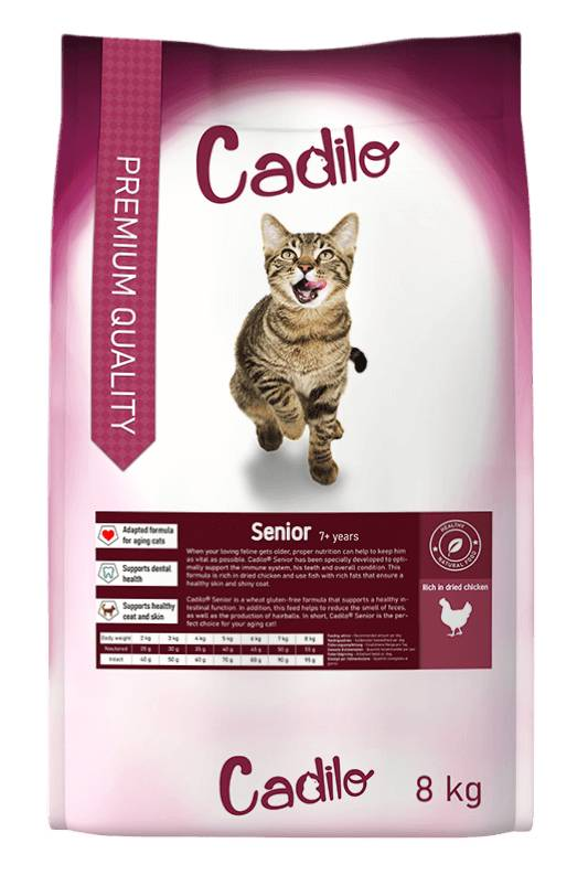 Cadilo Senior pour chat 2 x 8 kg
