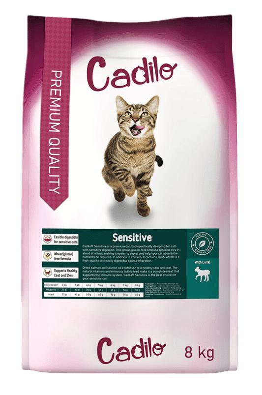 Cadilo Sensitive pour chat 8 kg + 2 kg gratuits