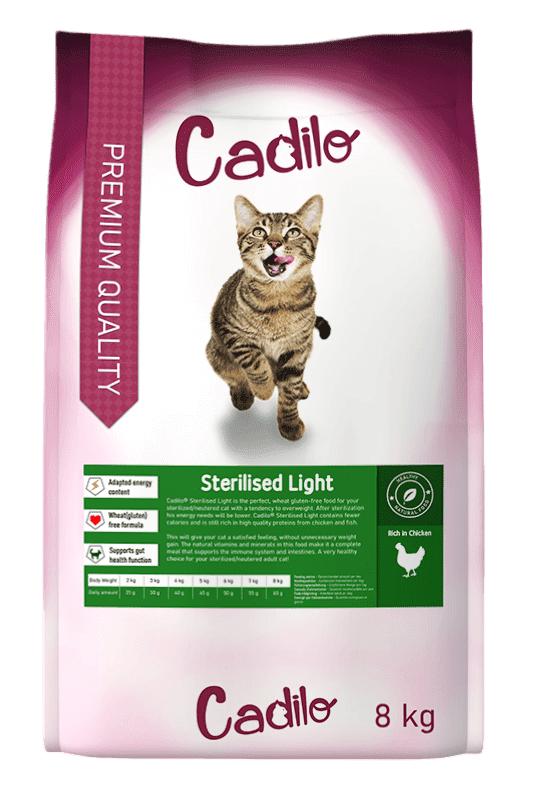 Cadilo Sterilised Light pour chat 8 kg + 2 kg gratuits