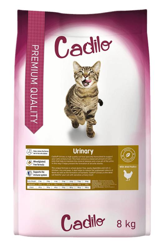 Cadilo Urinary pour chat 2 x 8 kg