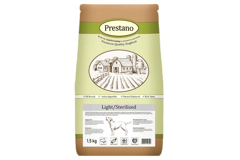 Prestano Light Sterilised pressées pour chiens 12 kg
