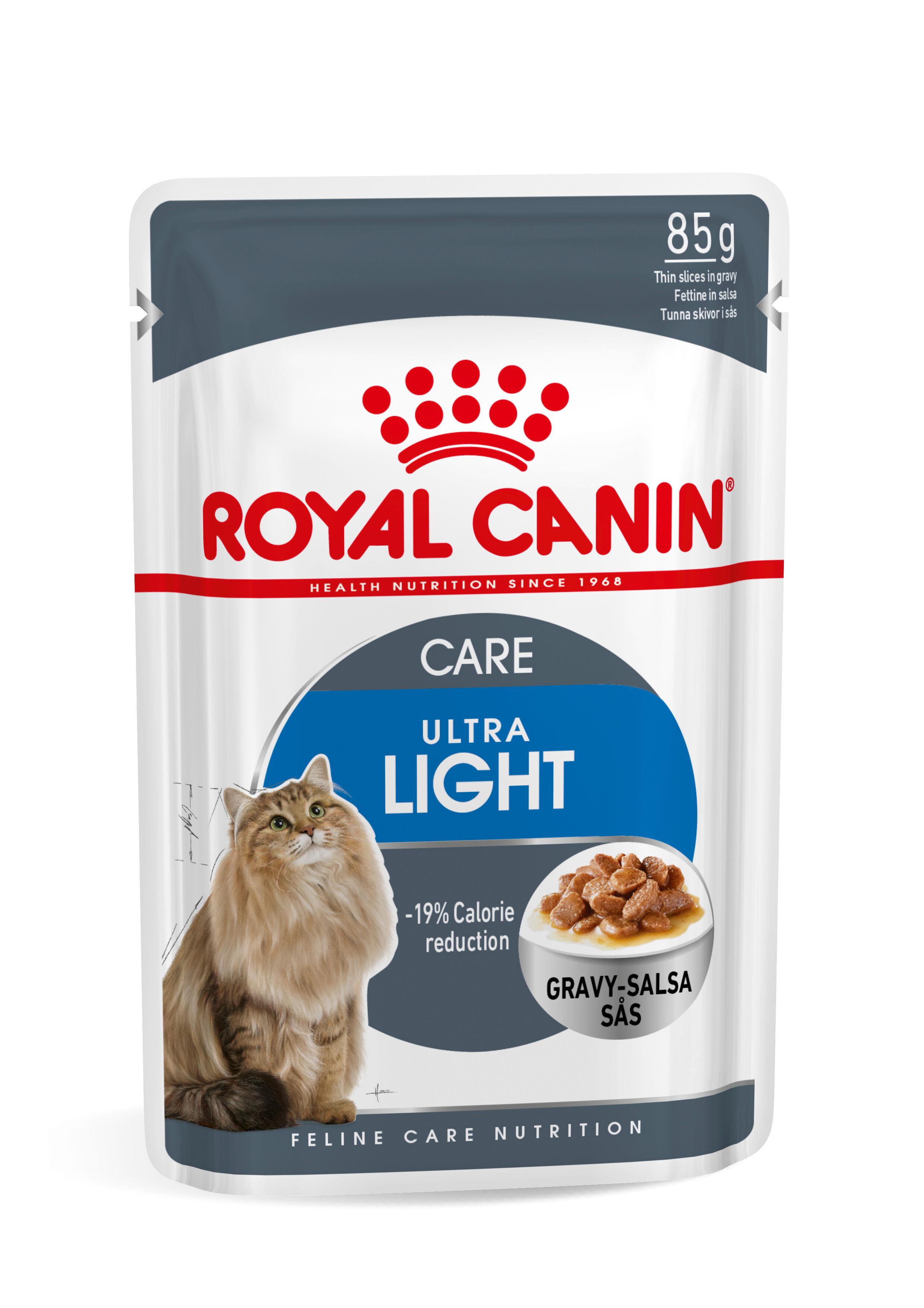 Royal Canin Light pâtée pour chat x12 2x Sauce + 2x Gelée (48x85 gr)