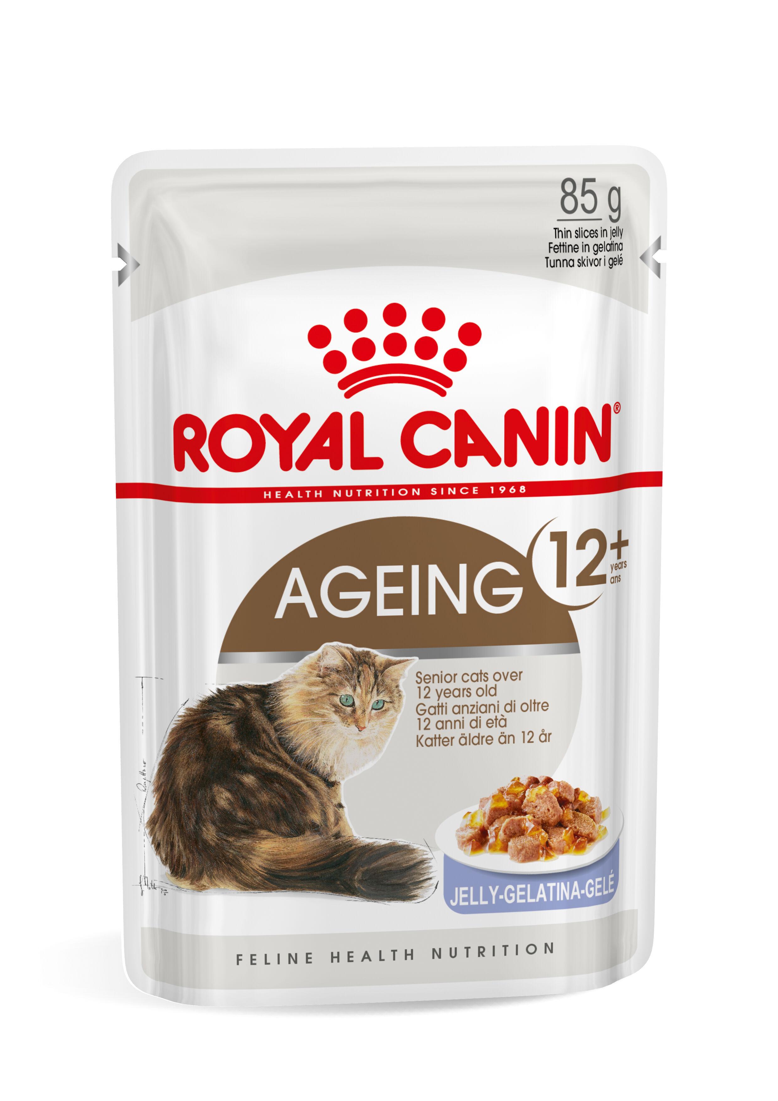 Royal Canin Ageing 12+ pour chat x12 sachets 4x En Gelée (48x85 gr)