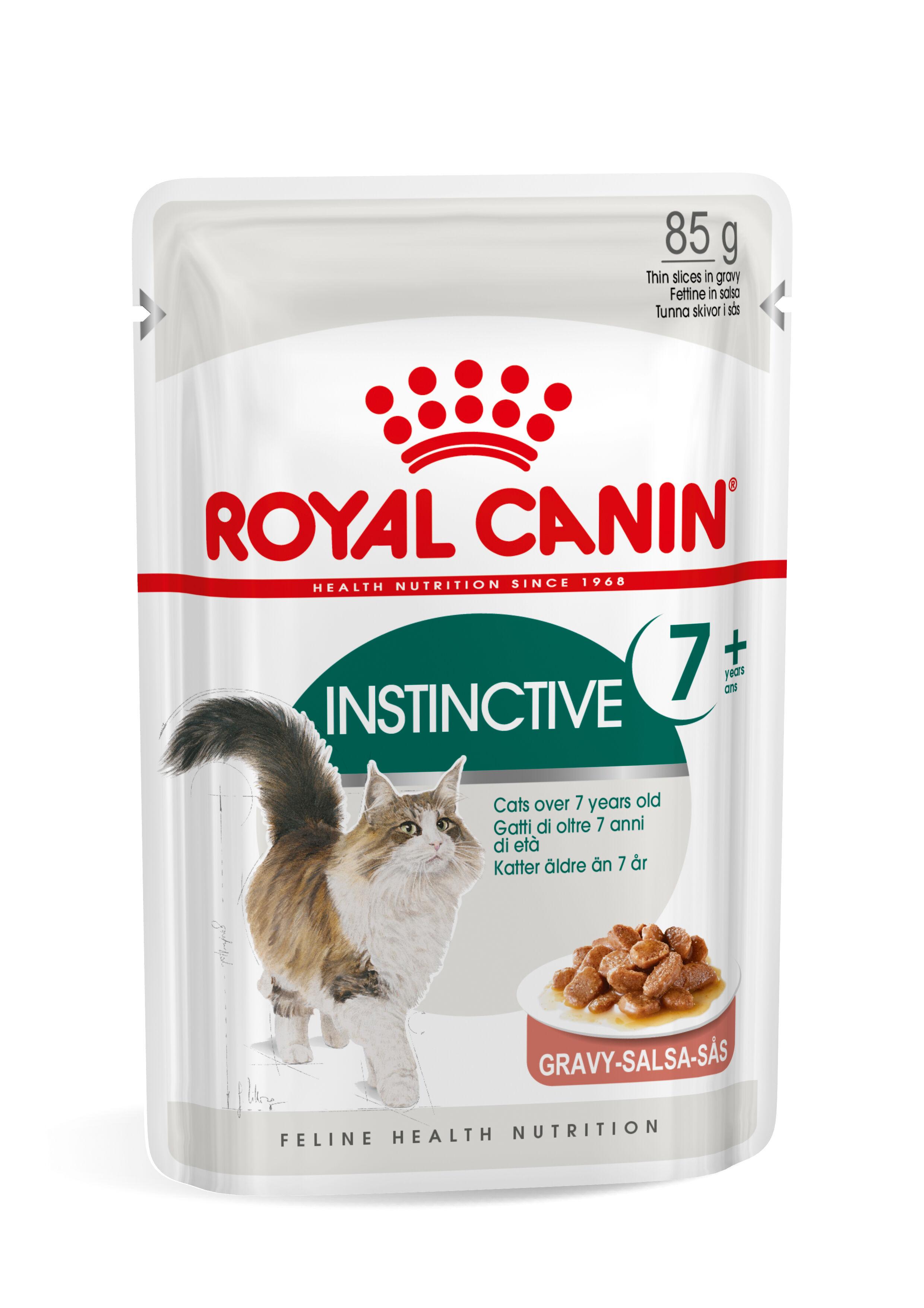 Royal Canin Instinctive 7+ pour chat 12 sachets 2x En Sauce (24x85 gr)