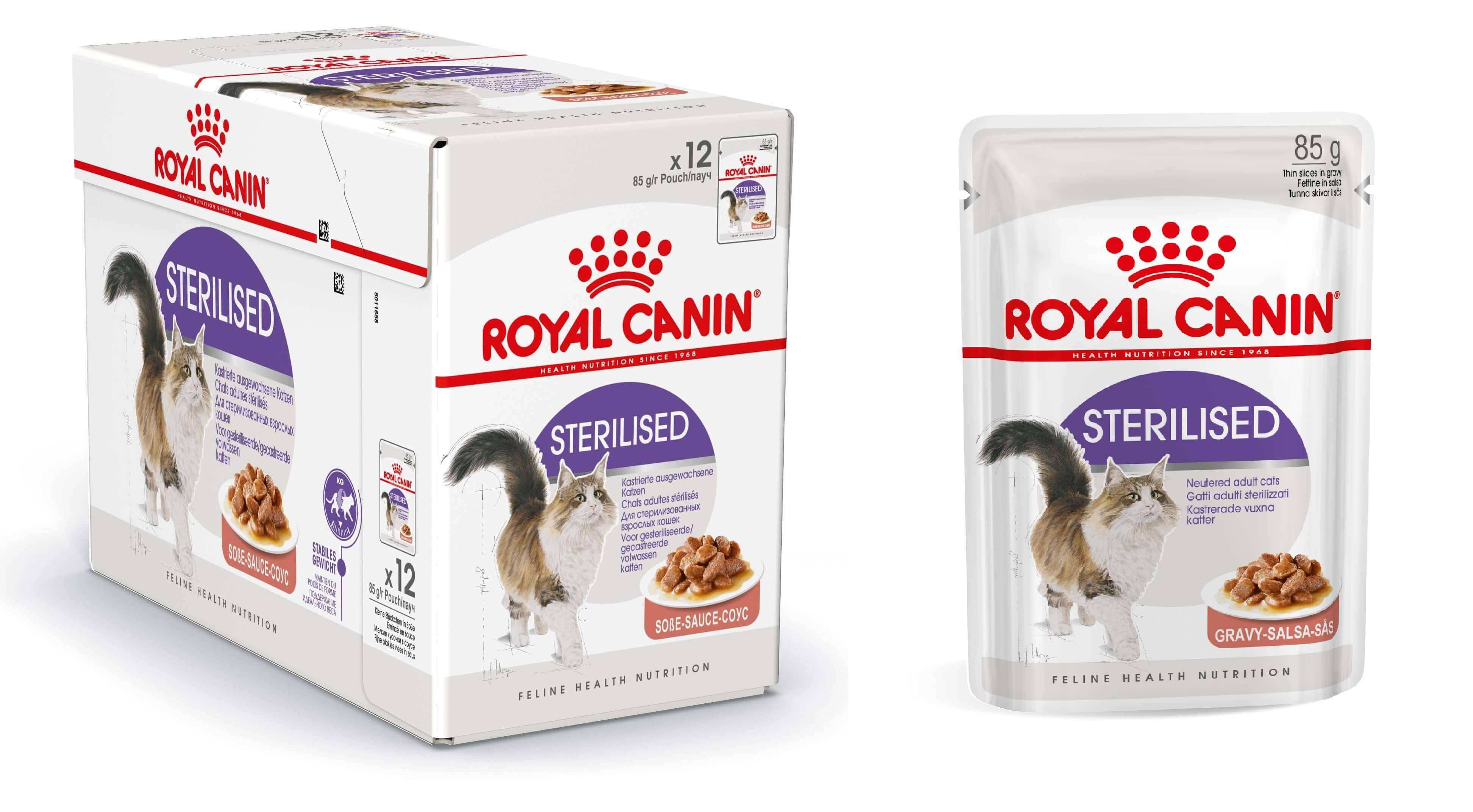 Royal Canin Sterilised pâtée pour chat 12x 1x Sauce + 1x Gelée (24x85 gr)