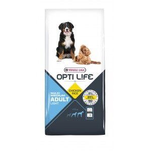 Opti Life Chien Adulte Light Medium/Maxi, Poulet & Riz 12.5 kg