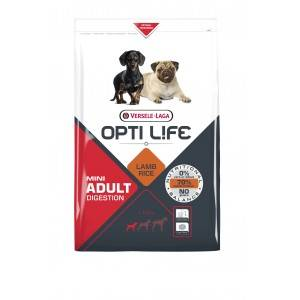 Opti Life Chien Mini Adulte Digestion, Agneau & Riz 2,5 kg