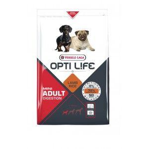 Opti Life Chien Mini Adulte Digestion, Agneau & Riz 2 x 7,5 kg