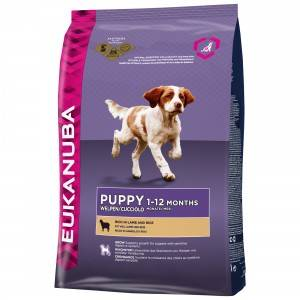 Eukanuba Puppy Small Medium Breed agneau riz pour chiot 2 x 12 kg