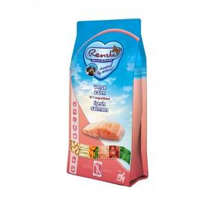 Renske Super Premium Adult Sans Céréales Saumon Frais pour chien 2 x 2 kg