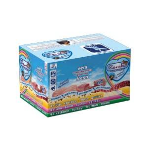 Renske Sans Céréales MultiBox pour chien 1 lot (12 x 395 g) + Renske Snacks au Canard