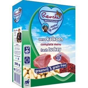 Renske Sans Céréales Dinde pour chien 2 lot (20 x 395 g)