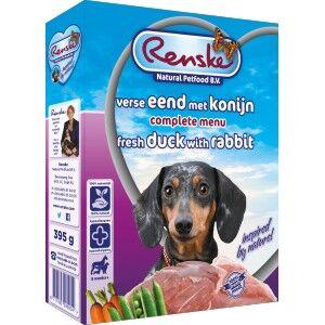 Renske Canard & Lapin Frais pour chien 2 lot (20 x 395 g)
