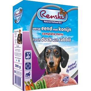 Renske Canard & Lapin Frais pour chien 1 lot (10 x 395 g)
