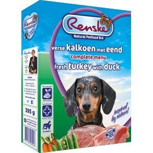 Renske Dinde & Canard Frais pour chien 1 lot (10 x 395 g)