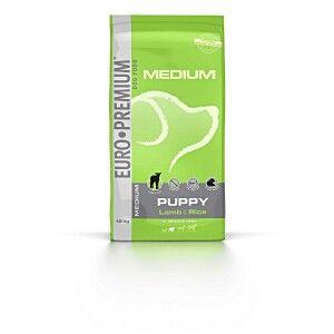 Euro Premium Medium Puppy agneau riz pour chiot 2 x 12 kg