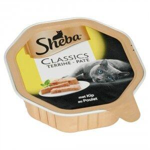 Sheba Paté au poulet pour chat Par 44 (44 x 85 g)