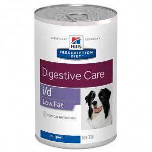 Hill's Prescription Diet Digestive Care Low Fat i/d Original boîte pour chien 1 x 12 boites
