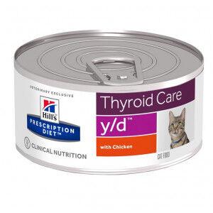 Hill's Prescription Diet Hill's Prescription Y/D Thyroid Care pâtée au poulet pour chat boîte 1 x 24 boites (156g)