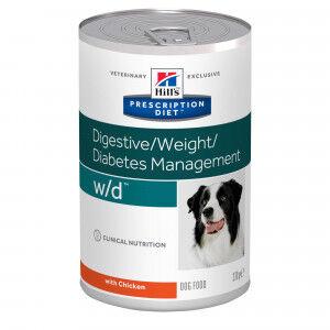 Hill's Prescription Diet Hill's Prescription W/D Digestive/ Weight/Diabetes pâtée pour chien Par 4 paquets (48 x 370 g)