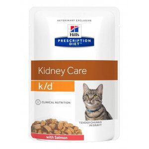Hill's Prescription Diet Hill's Prescription K/D Kidney Care pâtee au saumon pour chat 85g 8 x (12 x 85g)