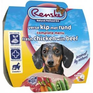 Renske Poulet & Boeuf Frais pour chien FIN DE STOCK 24 x 100 gr