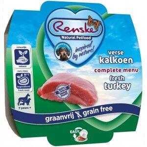 Renske Chien Senior Sans Céréale Dinde Fraiche 100g 24 x 100 g