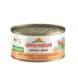 Almo Nature Thon et Crevettes pour chat Par 24 boites (Natural)