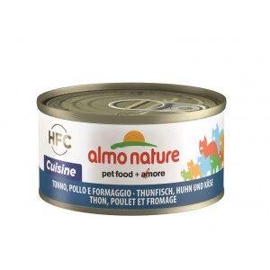 Almo Nature Thon et Poulet au Fromage pour chat Par 24 boites (Natural)