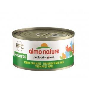 Almo Nature Thon et Maïs pour chat Par 24 boites (Natural)