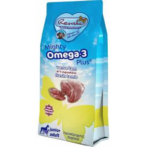 Renske Mighty Omega 3 Plust Junior Adult agneau & riz pour chien 2 x 15 kg