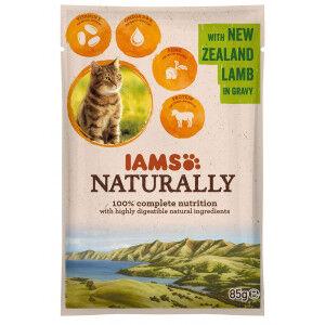 Iams Naturally Adulte Agneau sacs de 85g pour chat Par 48 portions