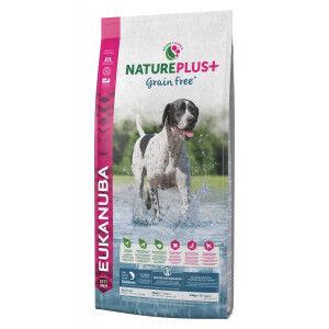 Eukanuba NaturePlus+ Grain Free saumon frais pour chien 3 x 2,3 kg