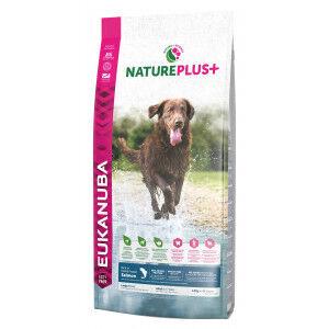 Eukanuba NaturePlus+ Large Breed au saumon frais pour chien 2 x 10 kg