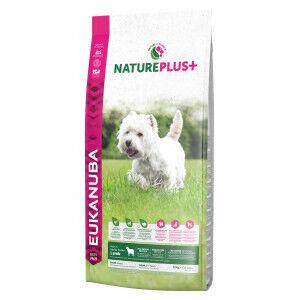 Eukanuba NaturePlus+ Adult Small Breed à l'agneau frais pour chien 3 x 2,3 kg