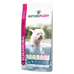 Eukanuba NaturePlus+ Adult Small Breed au saumon frais pour chien 3 x 2,3 kg
