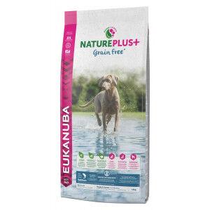 Eukanuba NaturePlus+  Puppy Sans Céréales au saumon frais pour chiot 2 x 10 kg